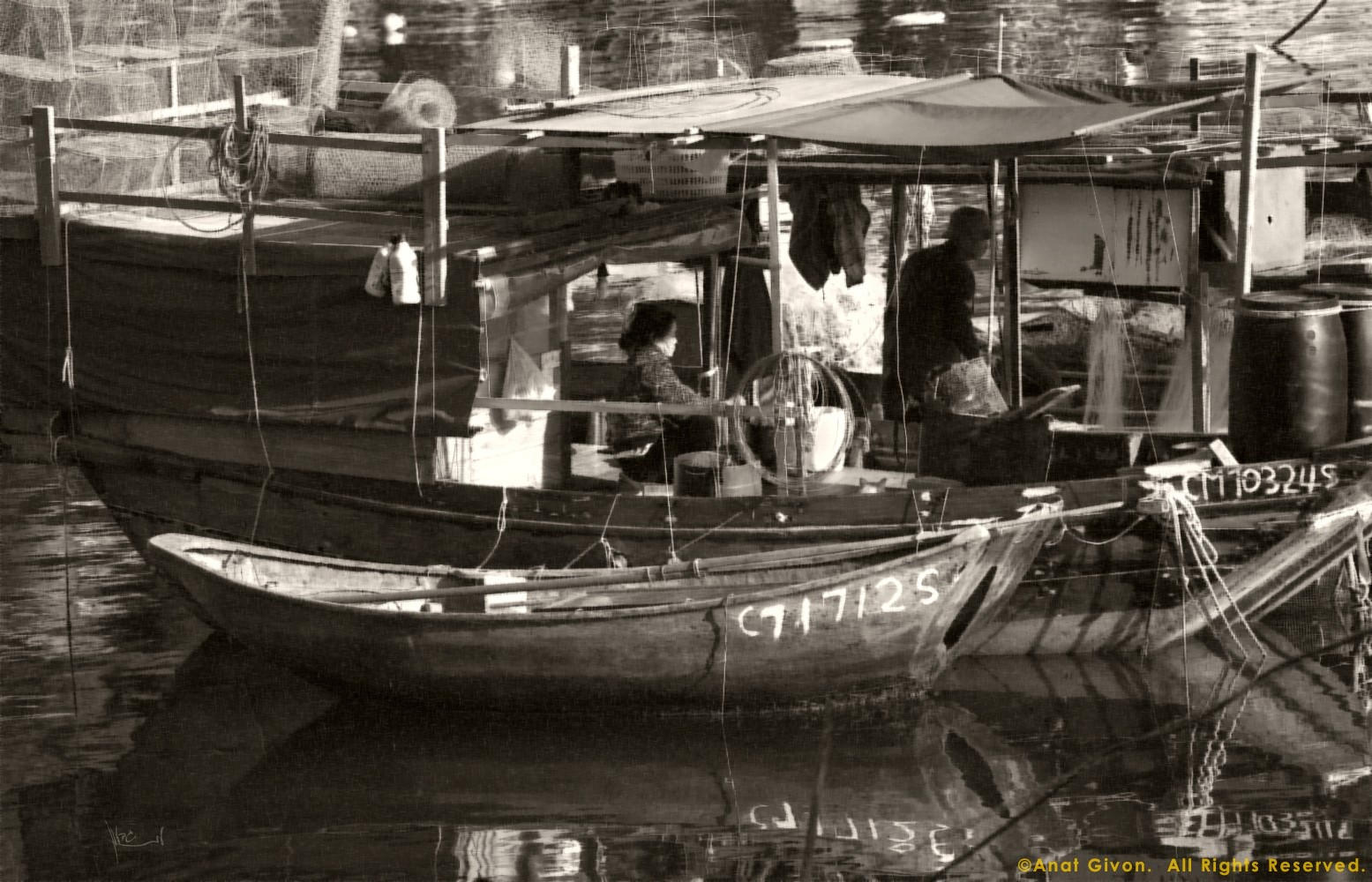 Lei Yu Mun Couple On Fishing Boat, HK