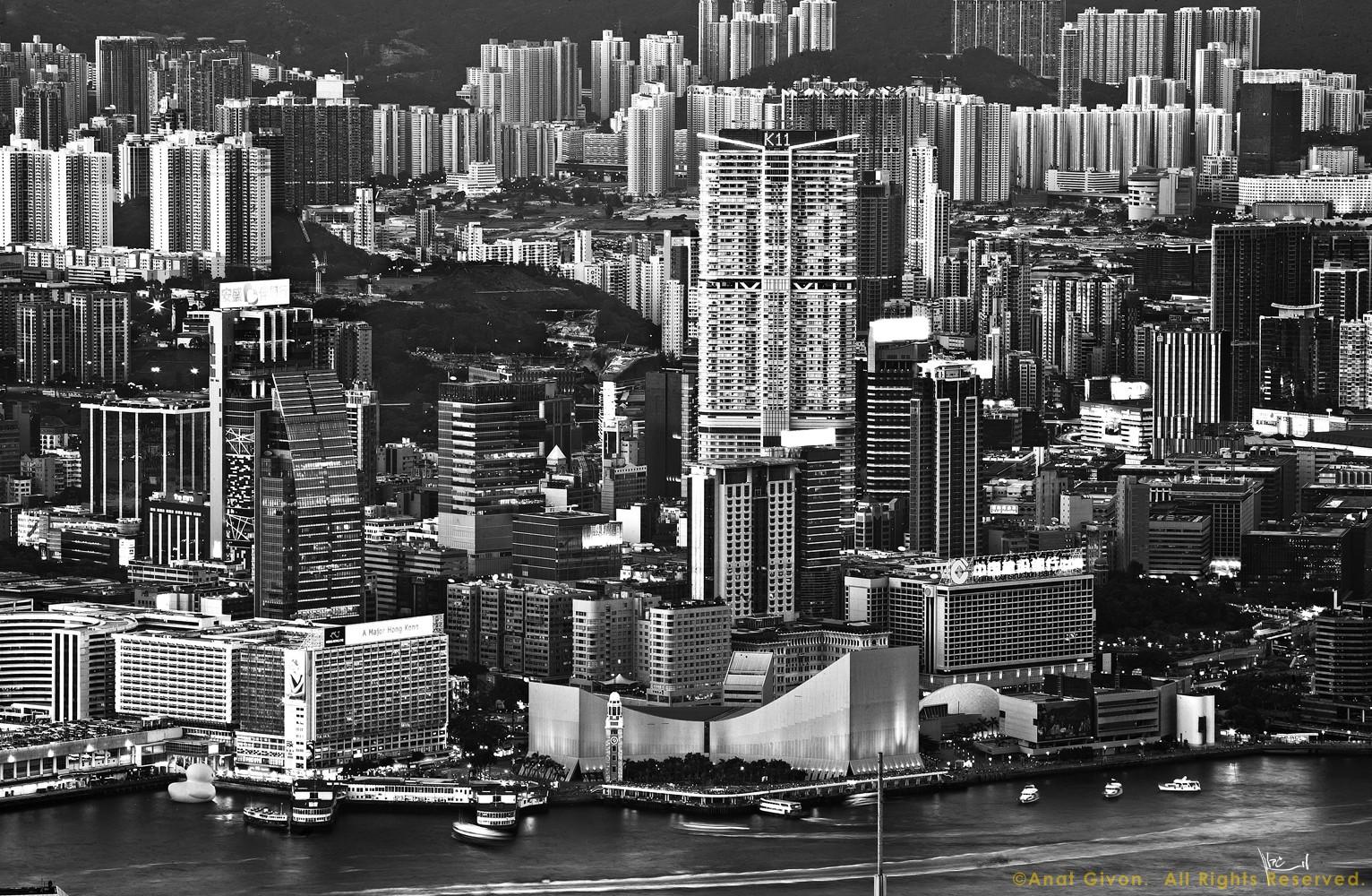Tsim Sha Tsui B&W, HK