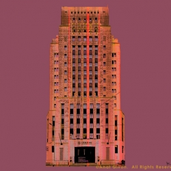 Bank Of China Old Building - pink