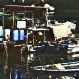 Lei Yue Mun Woman With Hat & Man on Fishing Boat, HK
