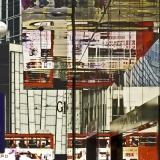 Reflections' Corner Red Tram, HK