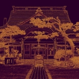 Temple Purple & Orange, Hokkaido, Japan